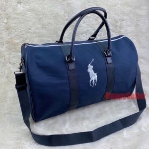 Polo Bag Duffle Gym Holdall Travel Weekender Blue